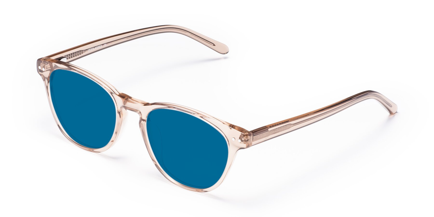 Angle of Blaze in light Brown with Blue Tinted Lenses