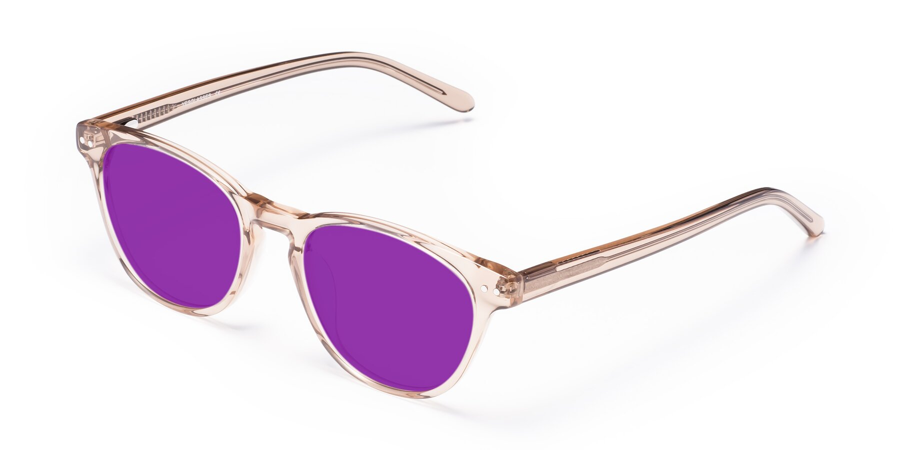 Angle of Blaze in light Brown with Purple Tinted Lenses