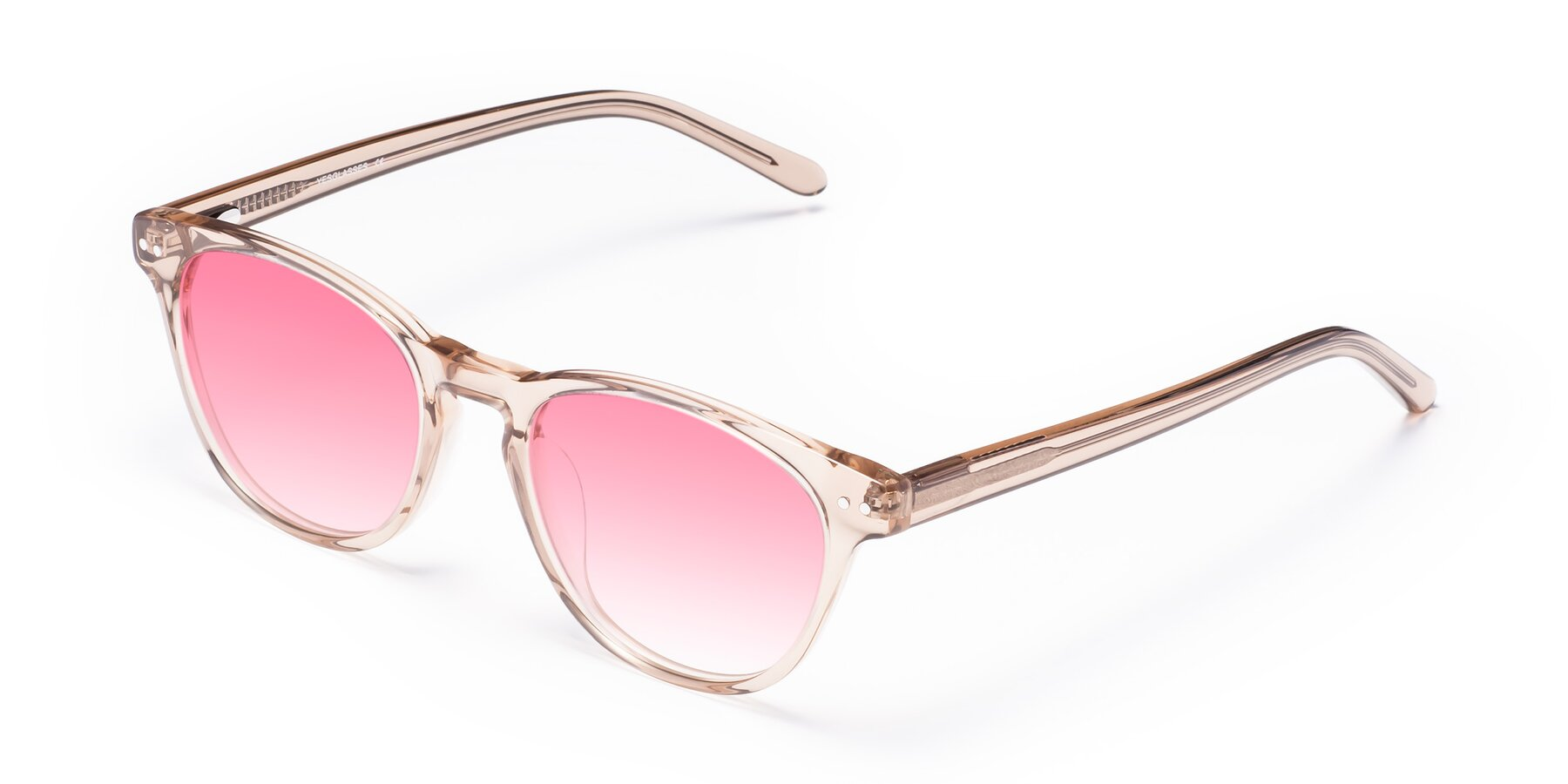 Angle of Blaze in light Brown with Pink Gradient Lenses