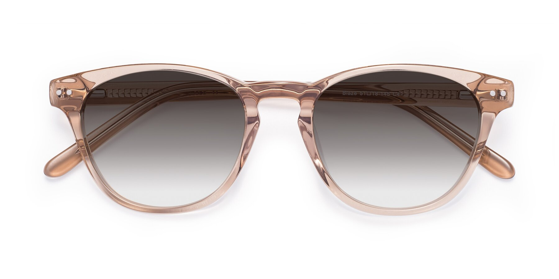 Folded Front of Blaze in light Brown with Gray Gradient Lenses