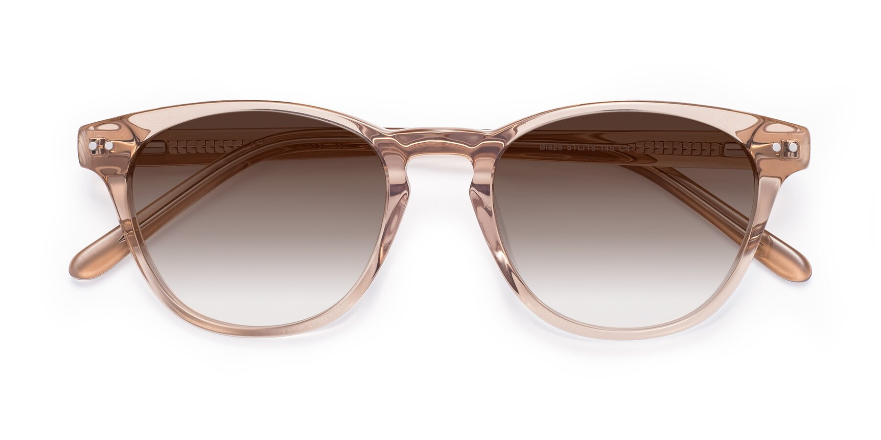 Folded Front of Blaze in light Brown with Brown Gradient Lenses