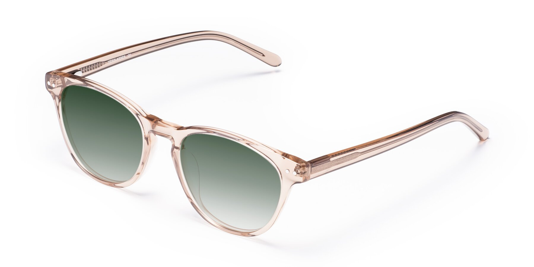 Angle of Blaze in light Brown with Green Gradient Lenses