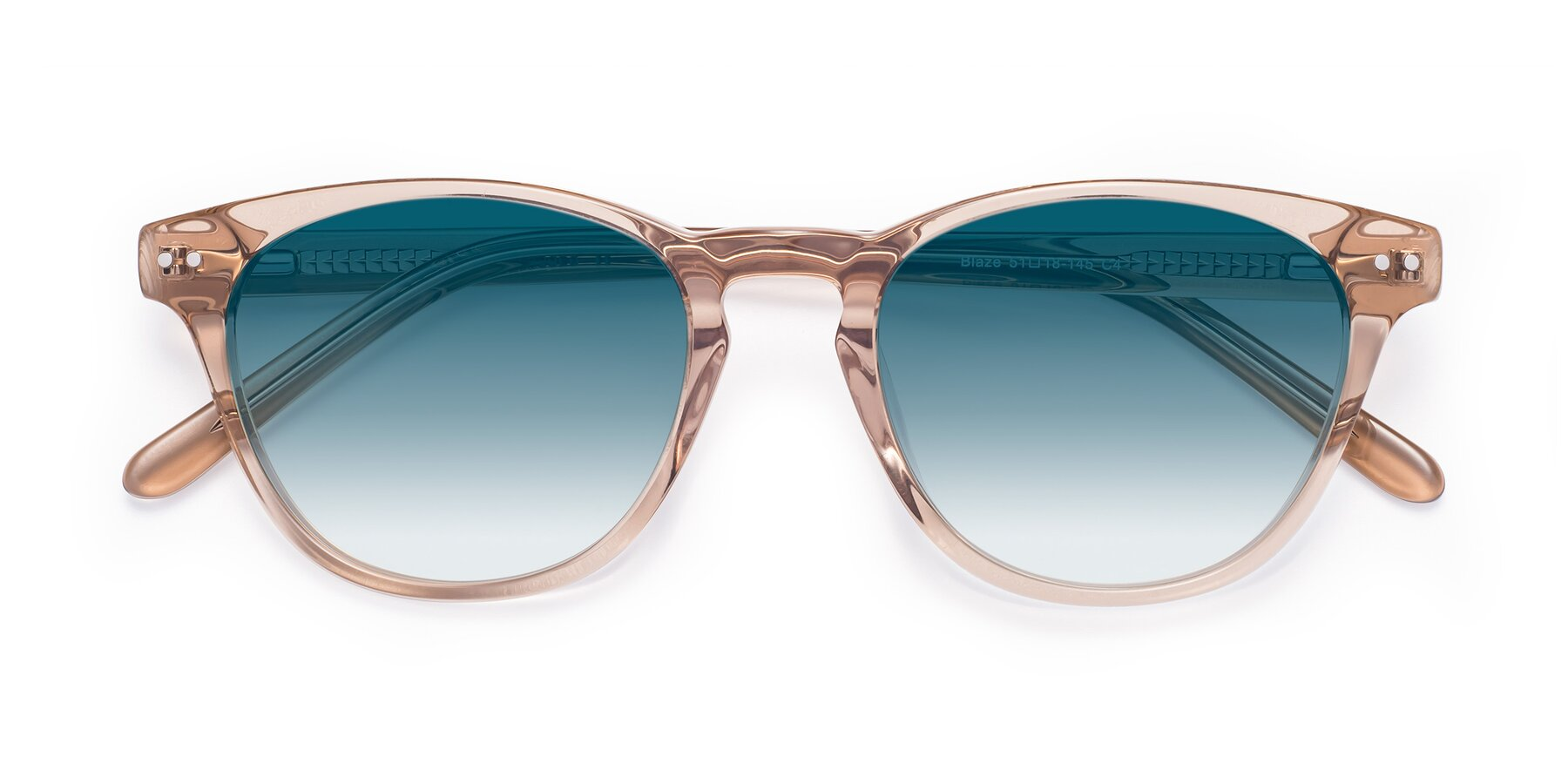 Folded Front of Blaze in light Brown with Blue Gradient Lenses