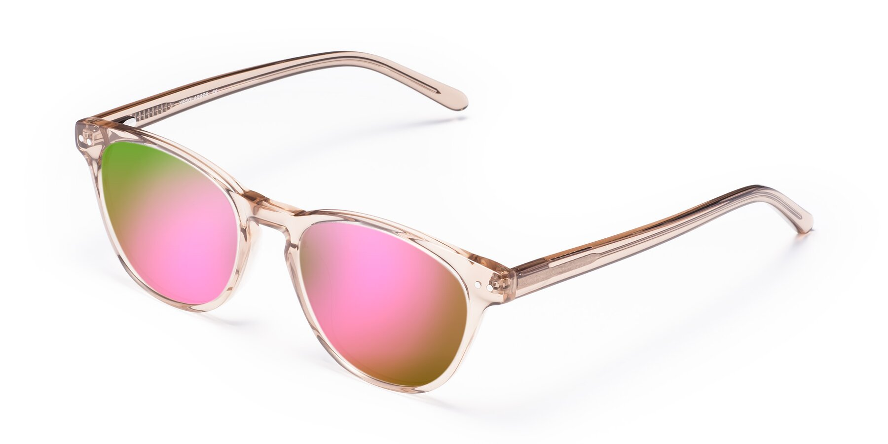 Angle of Blaze in light Brown with Pink Mirrored Lenses