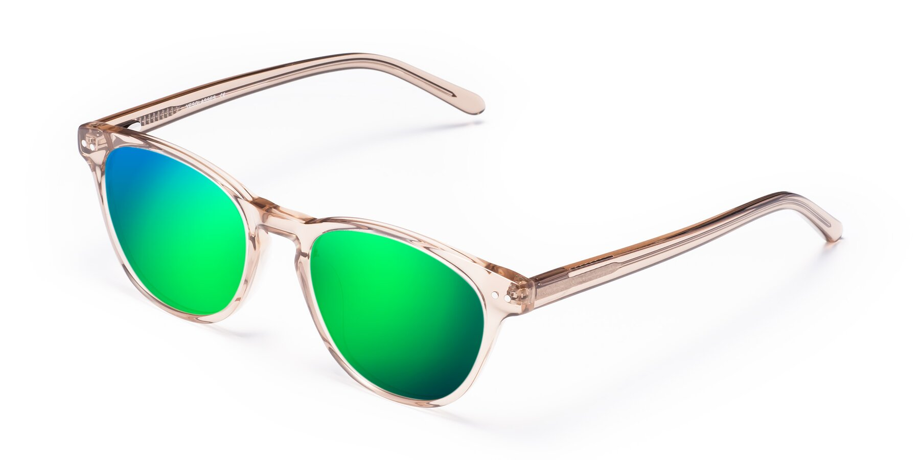 Angle of Blaze in light Brown with Green Mirrored Lenses