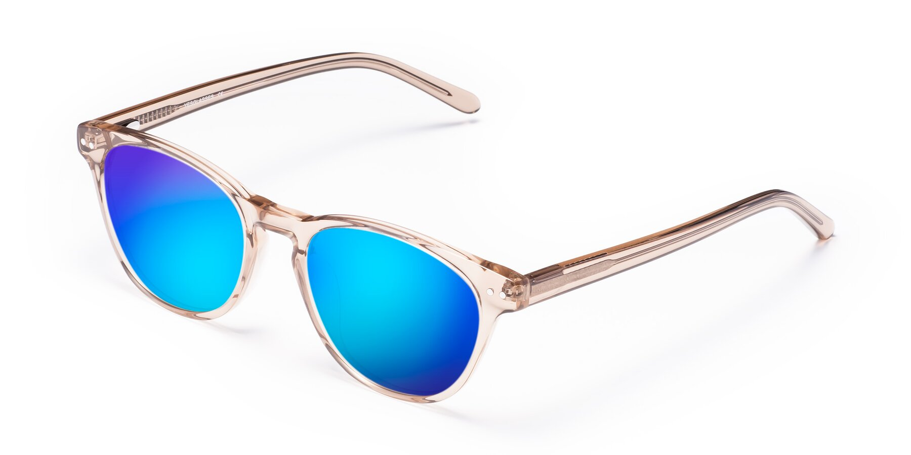 Angle of Blaze in light Brown with Blue Mirrored Lenses