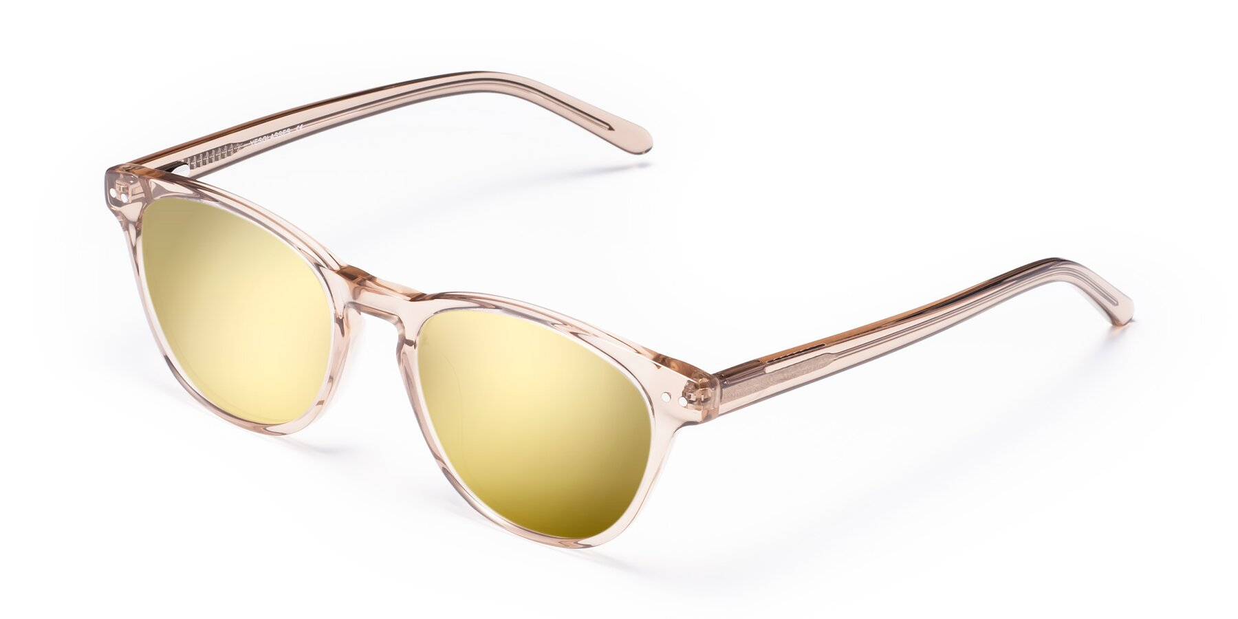 Angle of Blaze in light Brown with Gold Mirrored Lenses