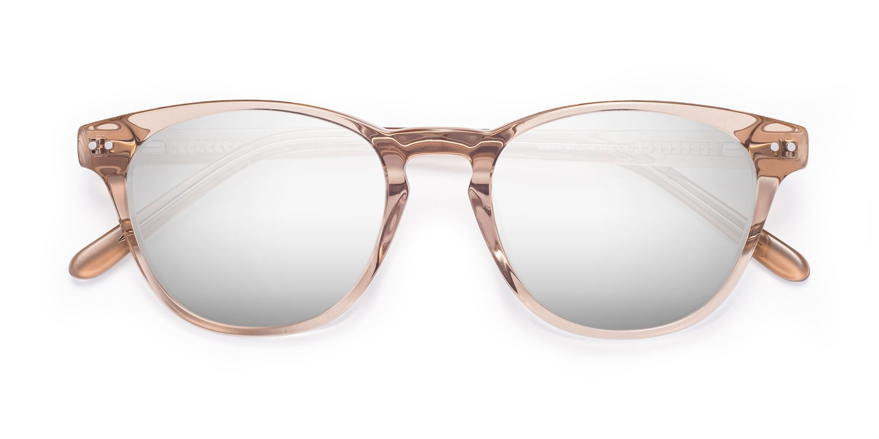 Folded Front of Blaze in light Brown with Silver Mirrored Lenses