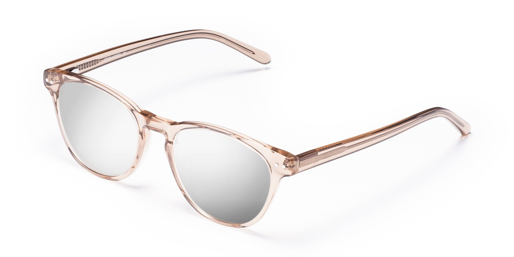 Angle of Blaze in light Brown with Silver Mirrored Lenses