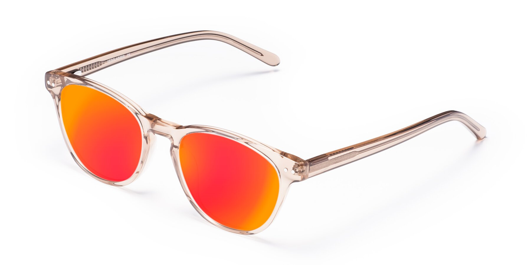 Angle of Blaze in light Brown with Red Gold Mirrored Lenses