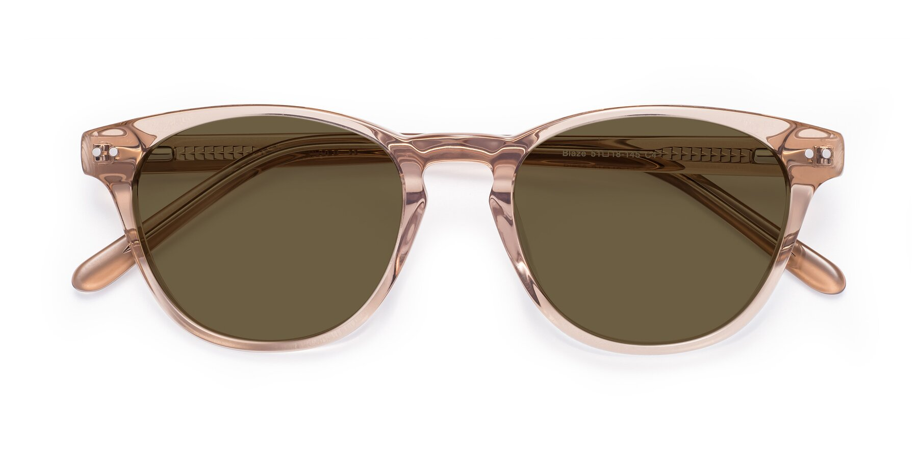 Folded Front of Blaze in light Brown with Brown Polarized Lenses