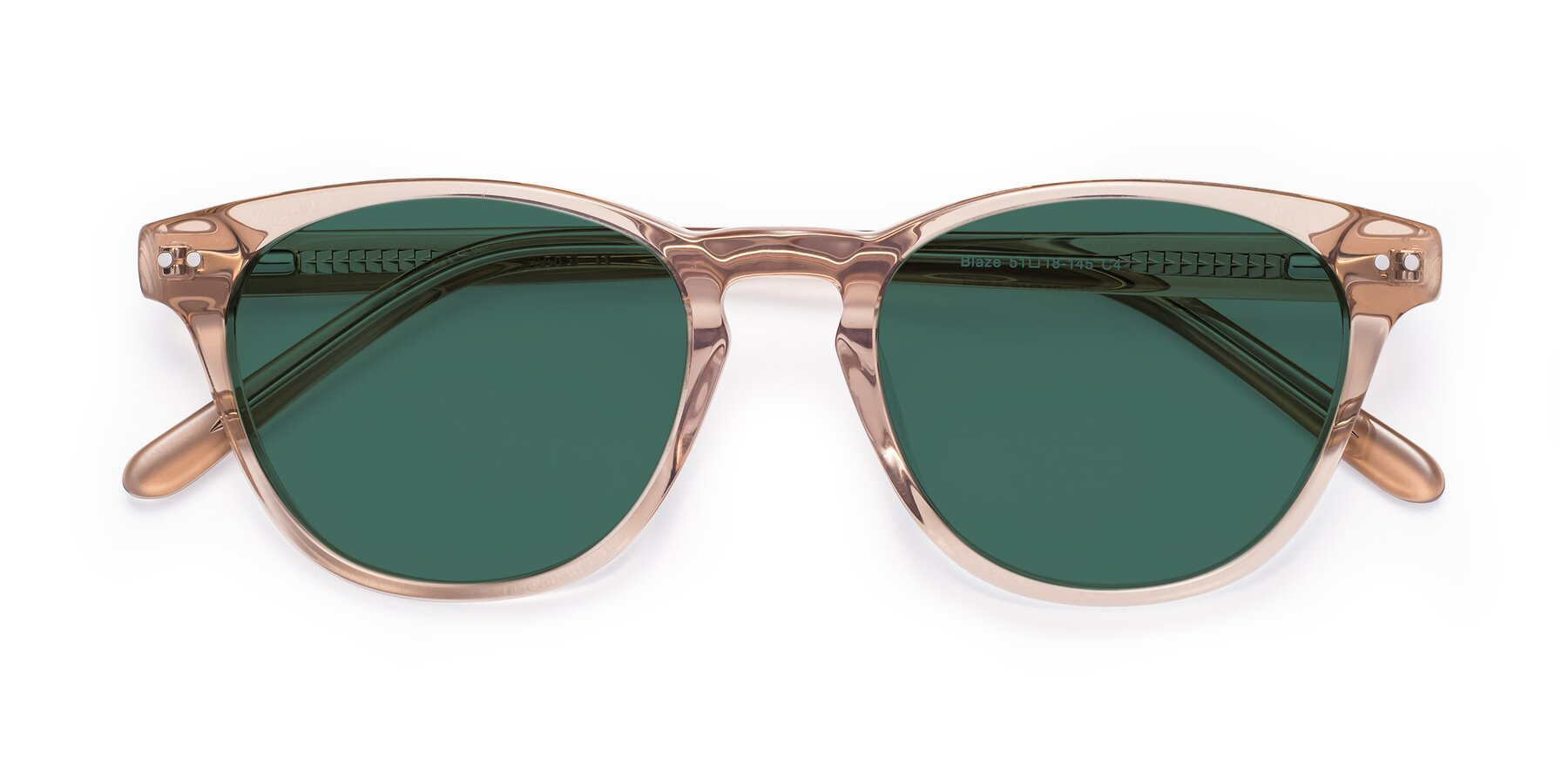 Folded Front of Blaze in light Brown with Green Polarized Lenses