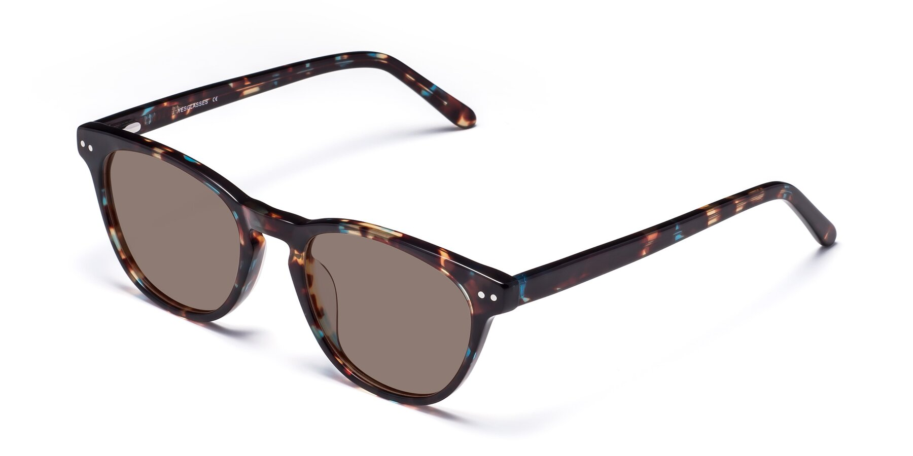 Angle of Blaze in Tortoise-Blue with Medium Brown Tinted Lenses