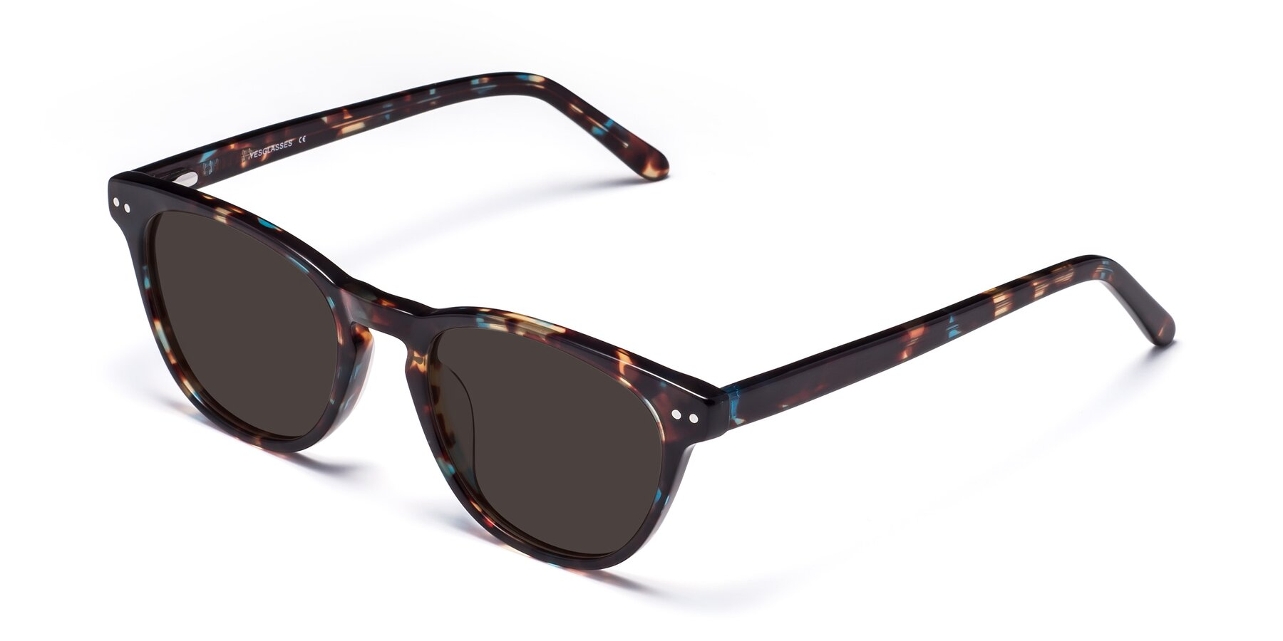 Angle of Blaze in Tortoise-Blue with Gray Tinted Lenses