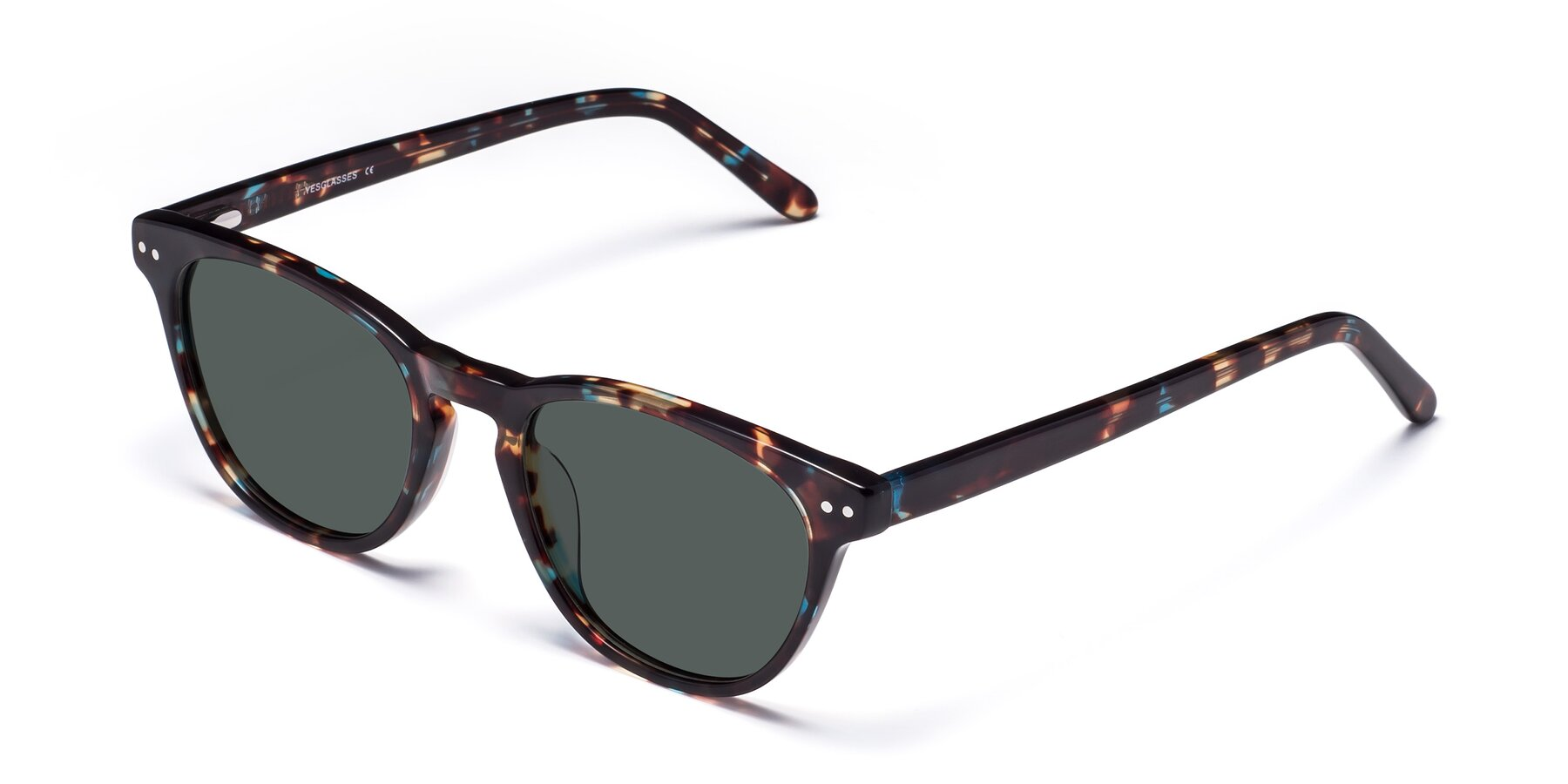 Angle of Blaze in Tortoise-Blue with Gray Polarized Lenses