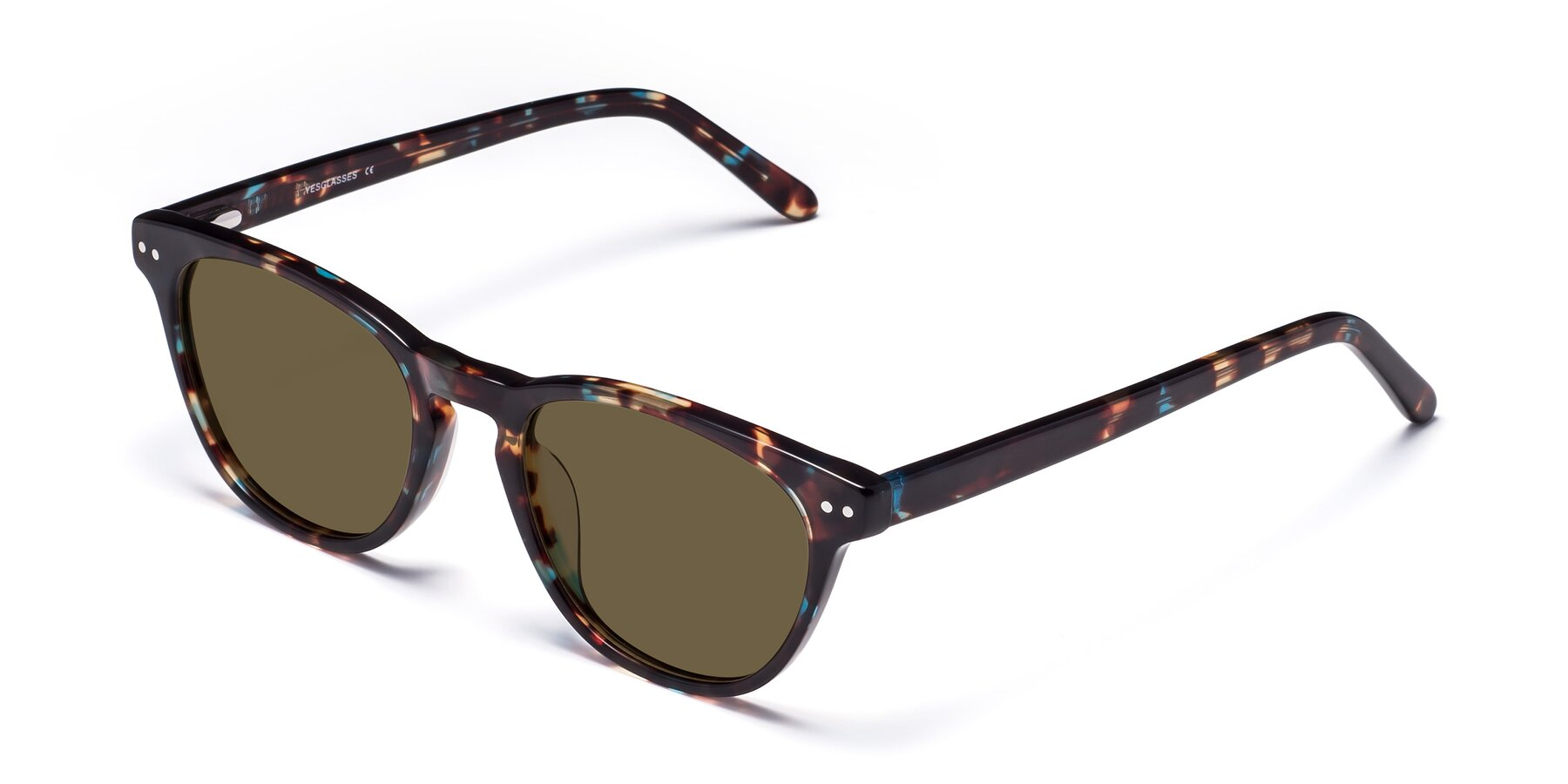Angle of Blaze in Tortoise-Blue with Brown Polarized Lenses