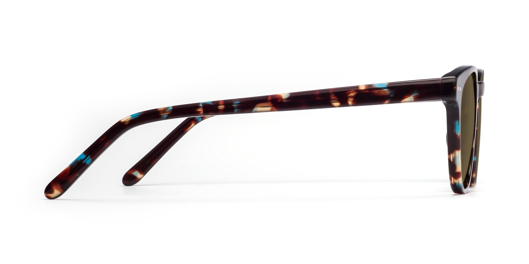 Side of Blaze in Tortoise-Blue with Brown Polarized Lenses