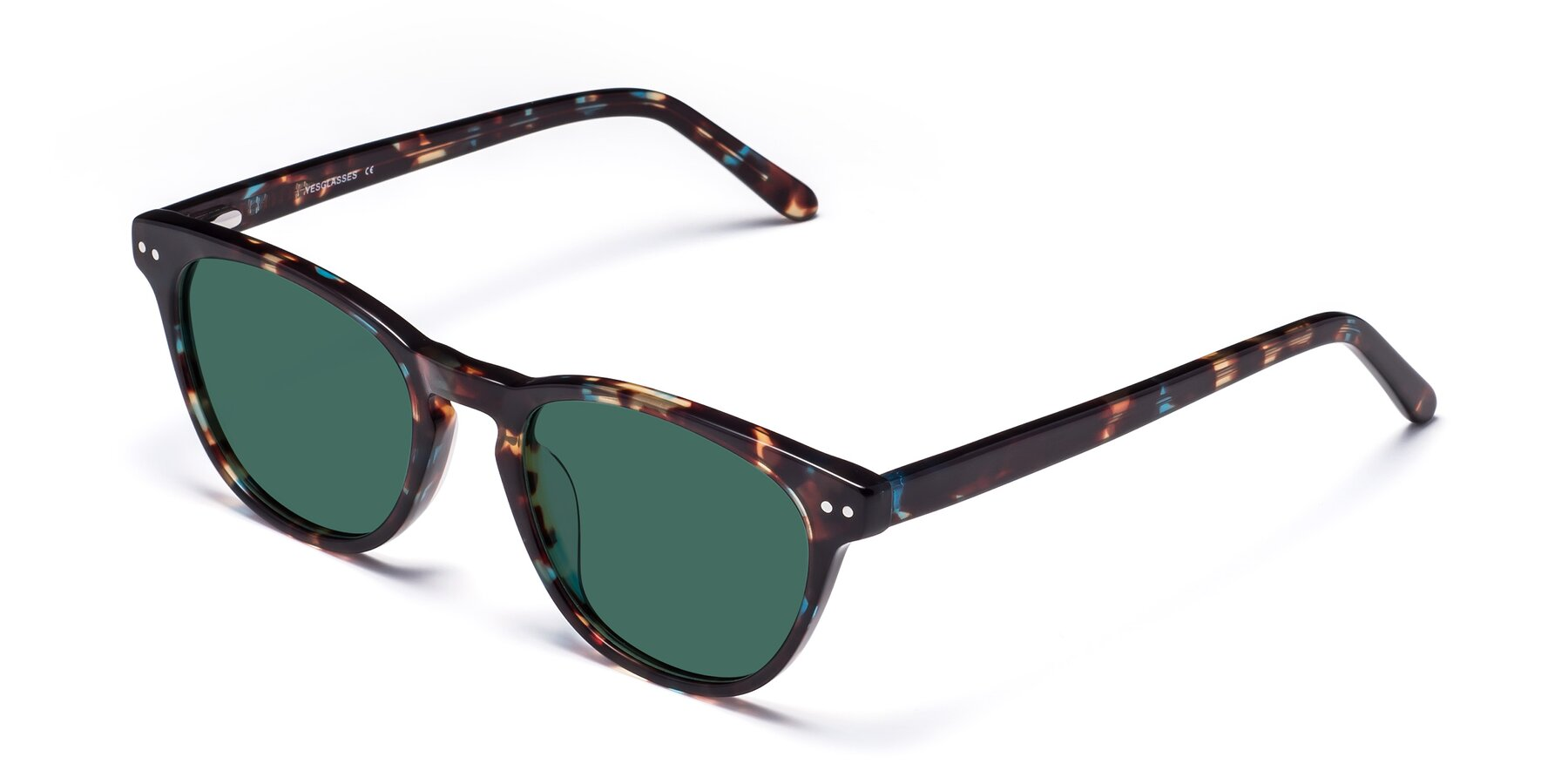 Angle of Blaze in Tortoise-Blue with Green Polarized Lenses