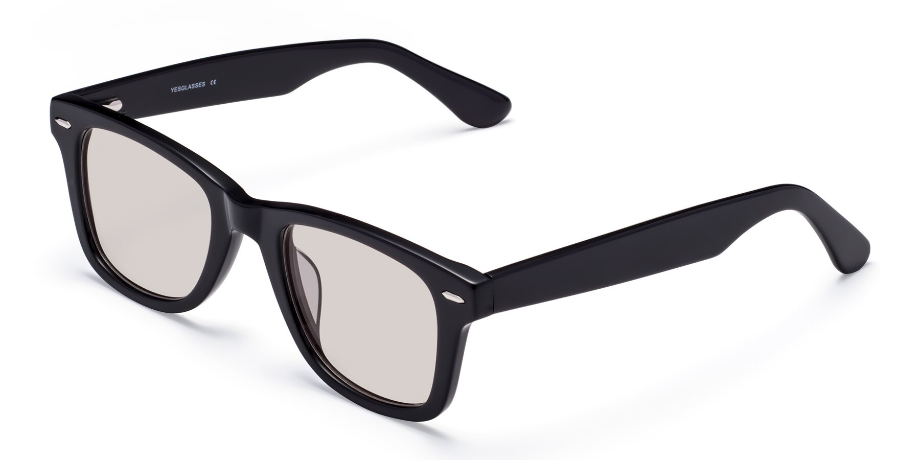 Angle of Rocky in Black with Light Brown Tinted Lenses