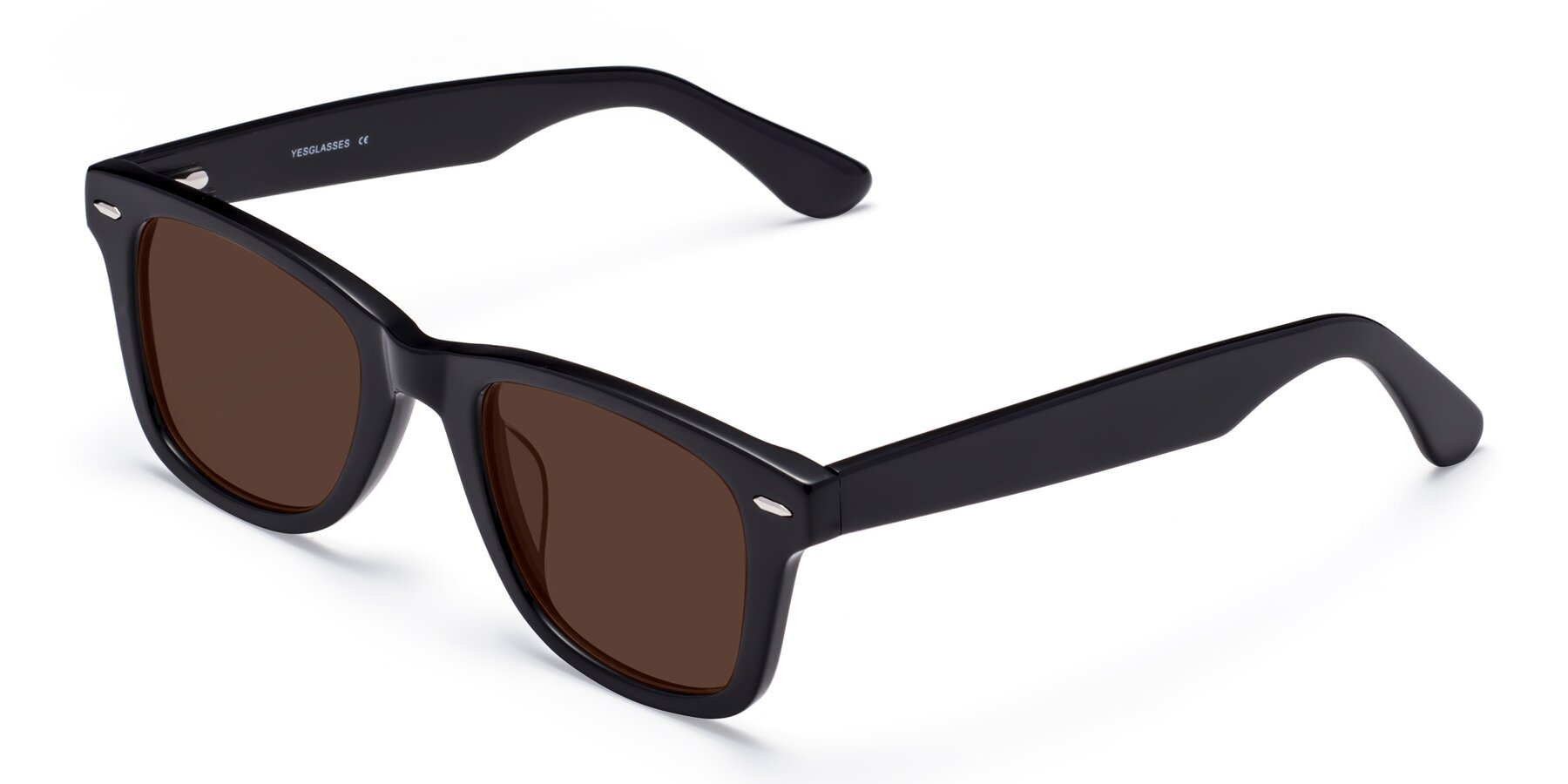 Angle of Rocky in Black with Brown Tinted Lenses