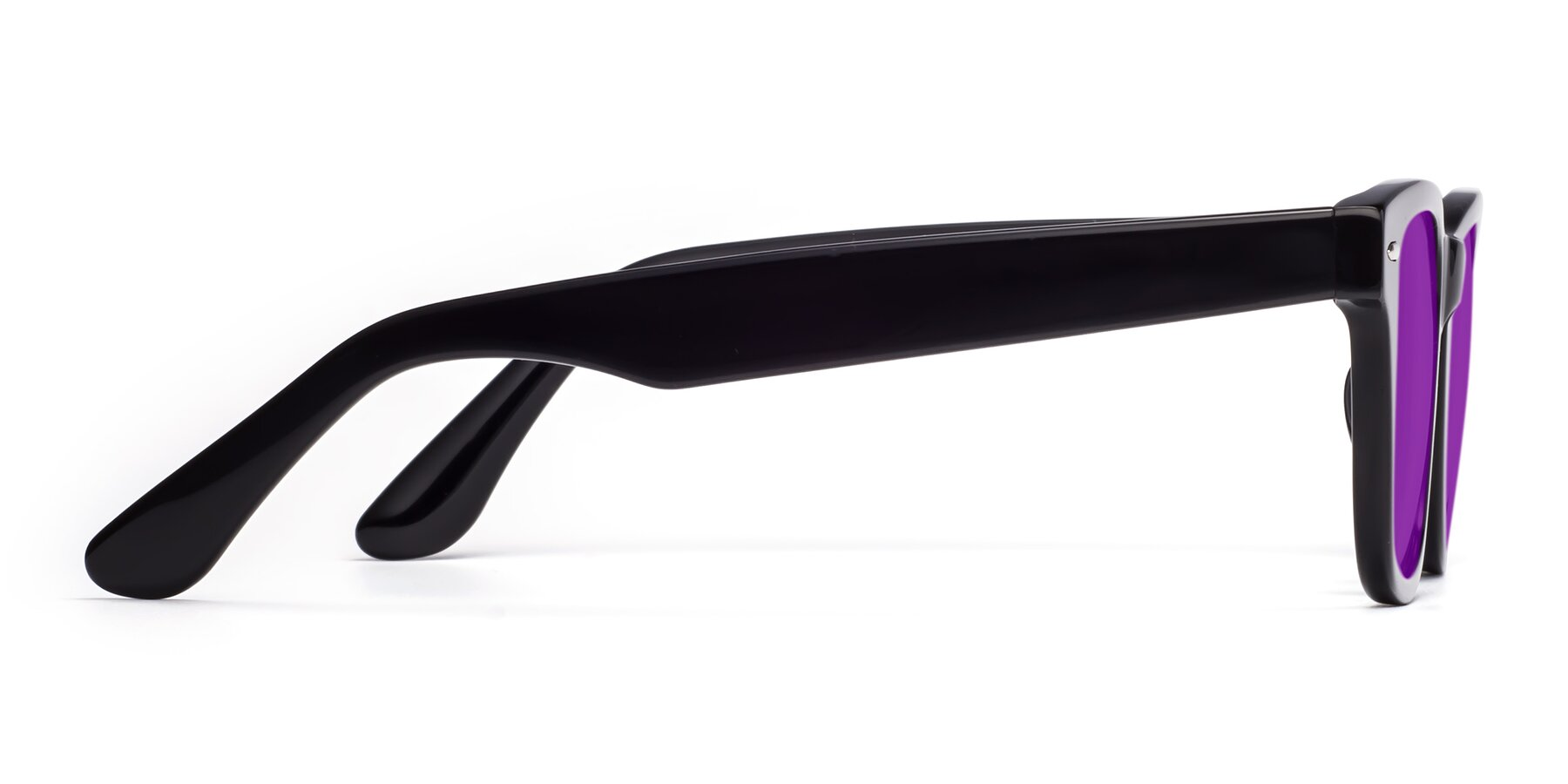 Side of Rocky in Black with Purple Tinted Lenses