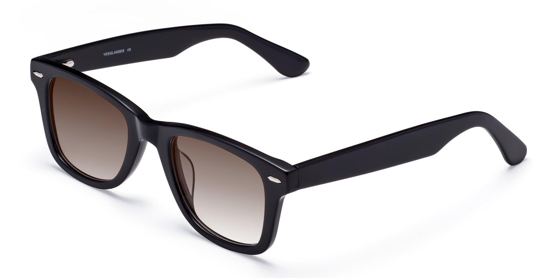 Angle of Rocky in Black with Brown Gradient Lenses