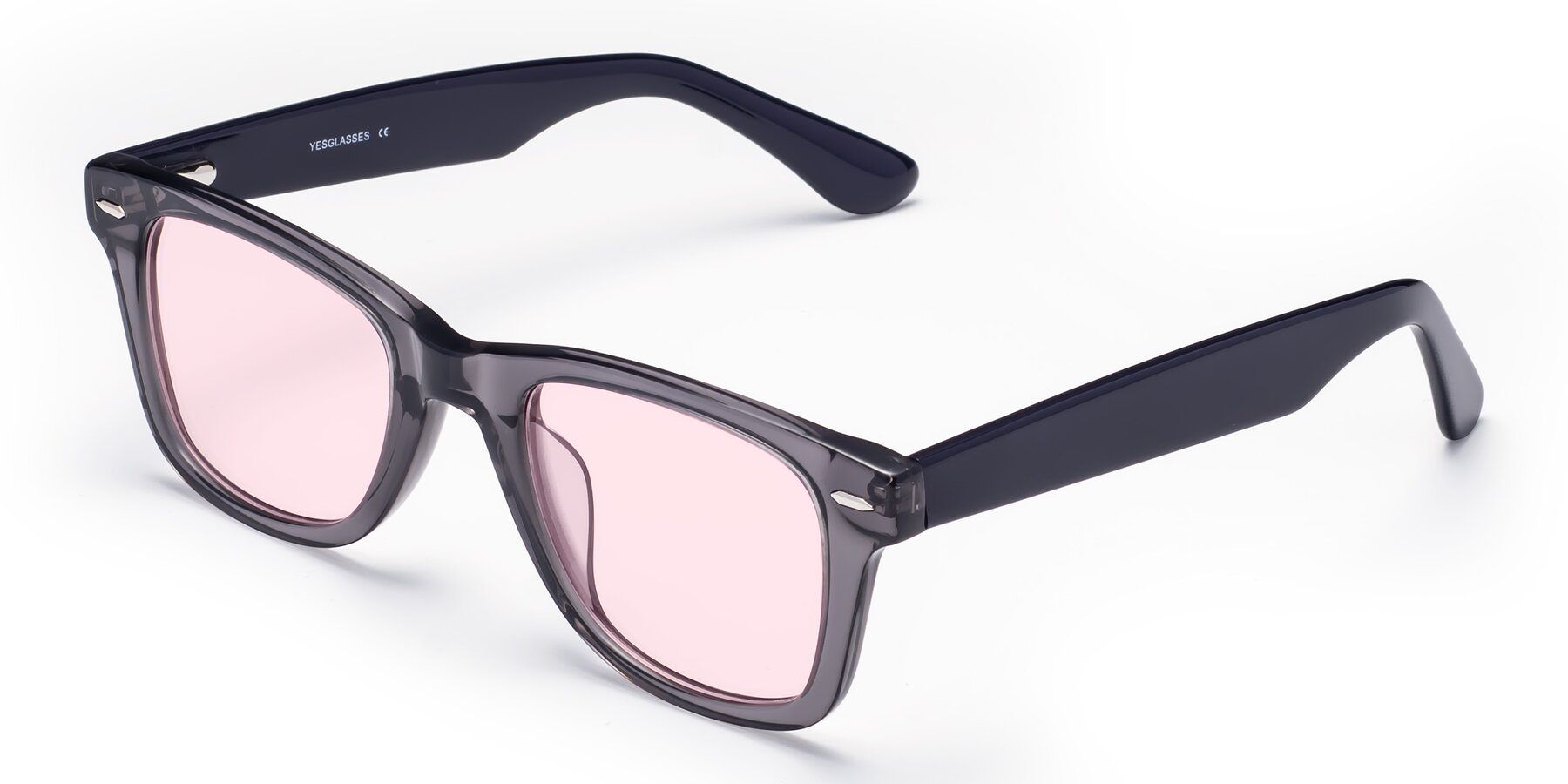 Angle of Rocky in Transprent Grey with Light Pink Tinted Lenses