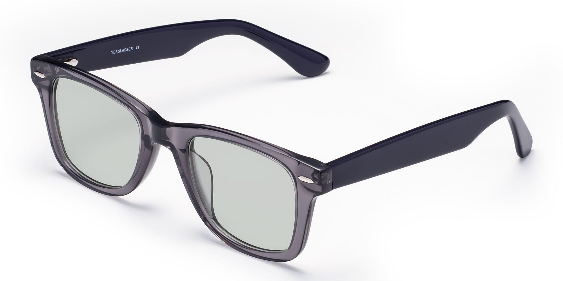 Angle of Rocky in Transprent Grey with Light Green Tinted Lenses