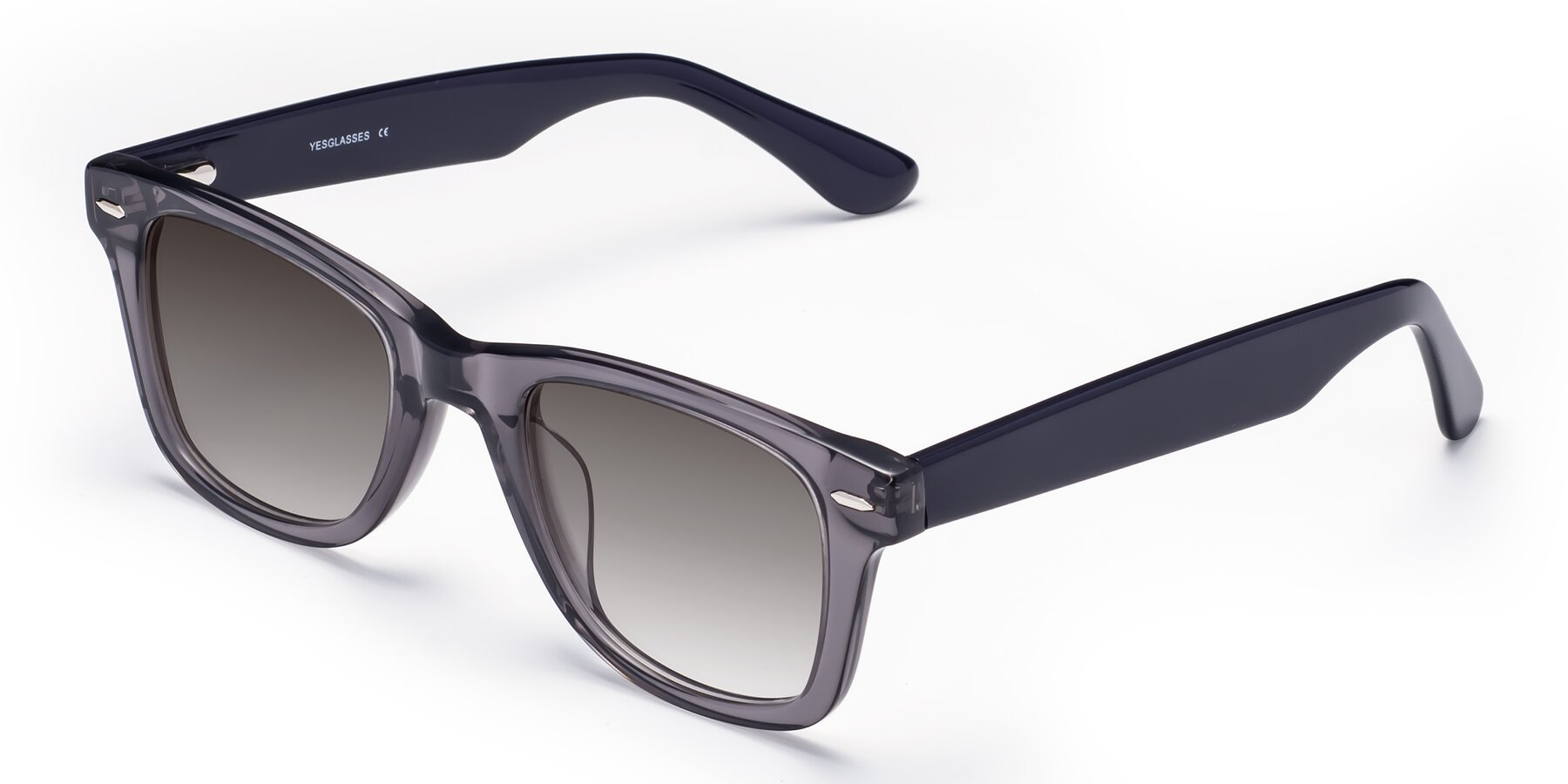 Angle of Rocky in Transprent Grey with Gray Gradient Lenses