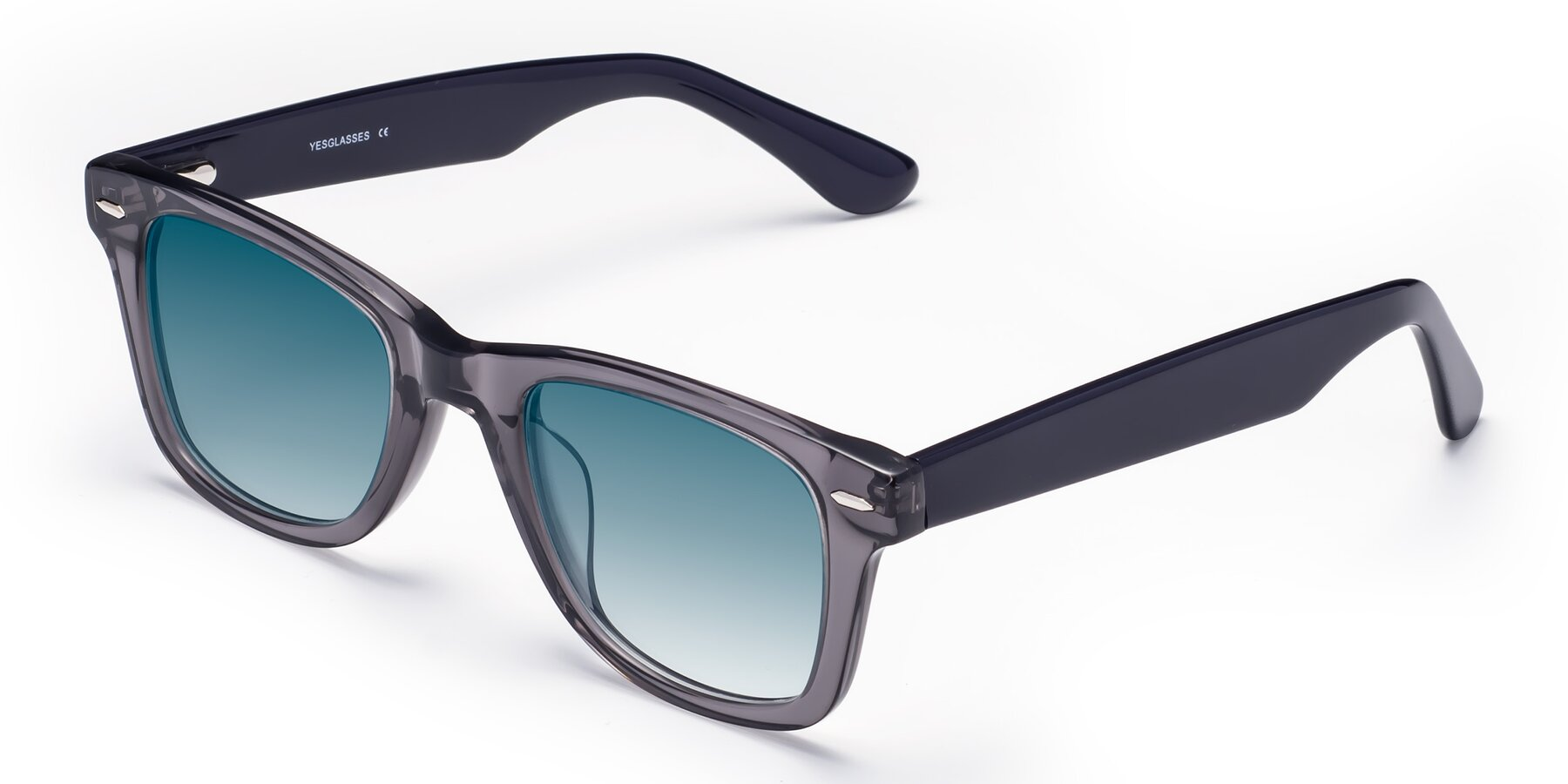 Angle of Rocky in Transprent Grey with Blue Gradient Lenses