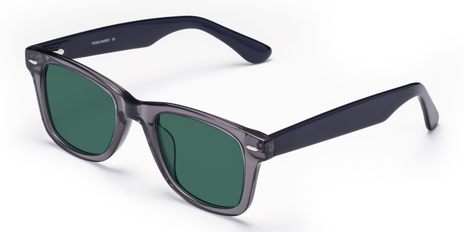 Angle of Rocky in Transprent Grey with Green Polarized Lenses
