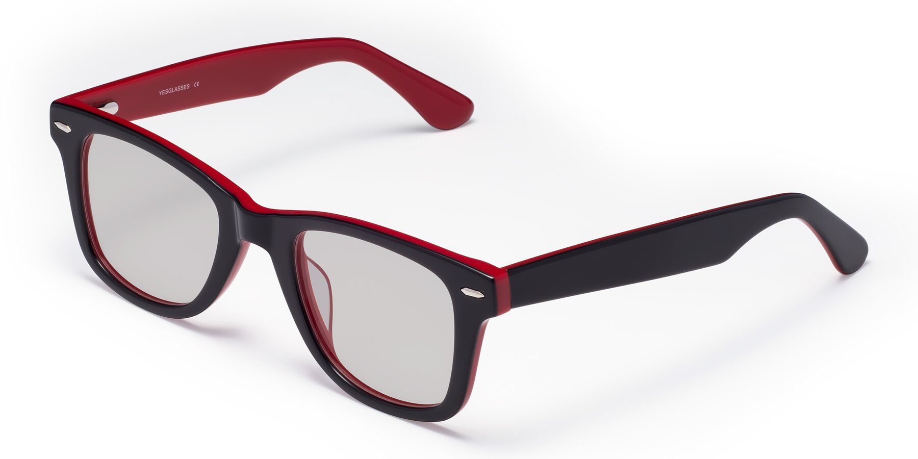 Angle of Rocky in Black-Wine with Light Gray Tinted Lenses