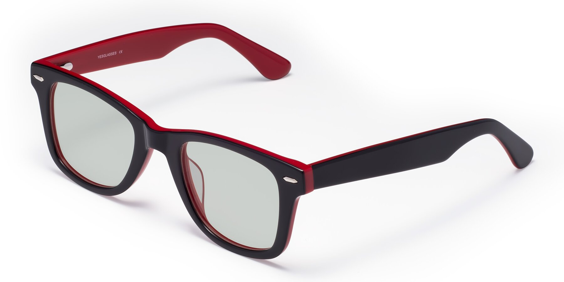 Angle of Rocky in Black-Wine with Light Green Tinted Lenses
