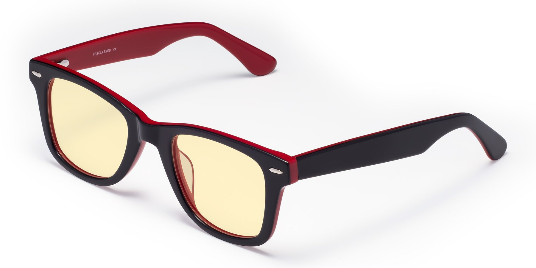 Angle of Rocky in Black-Wine with Light Yellow Tinted Lenses
