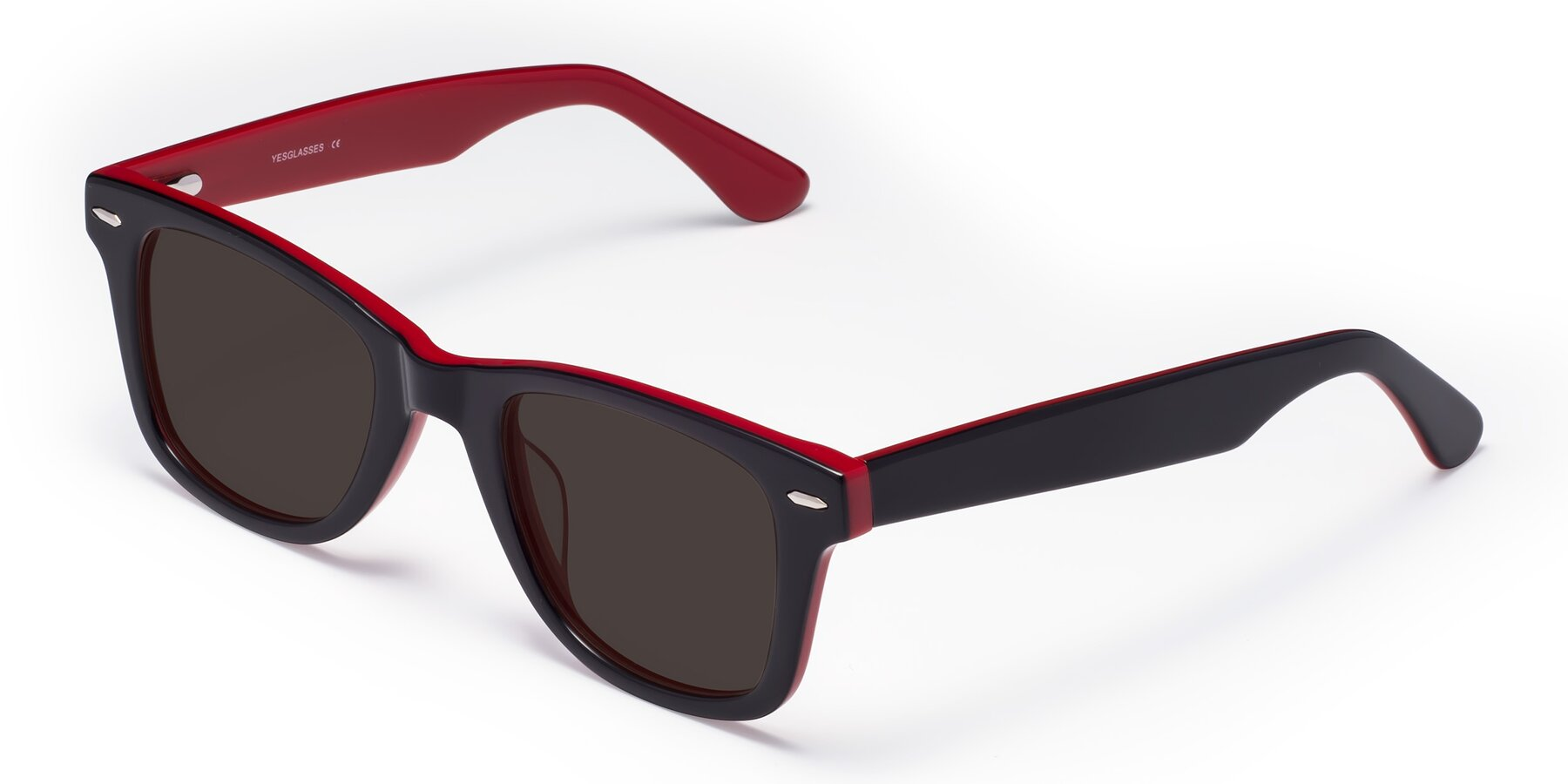 Angle of Rocky in Black-Wine with Gray Tinted Lenses