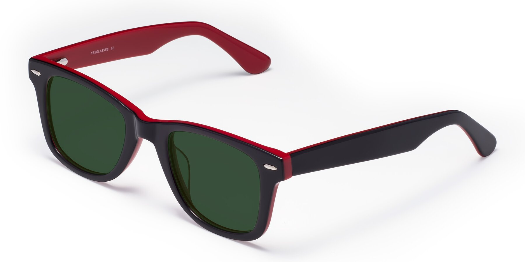 Angle of Rocky in Black-Wine with Green Tinted Lenses