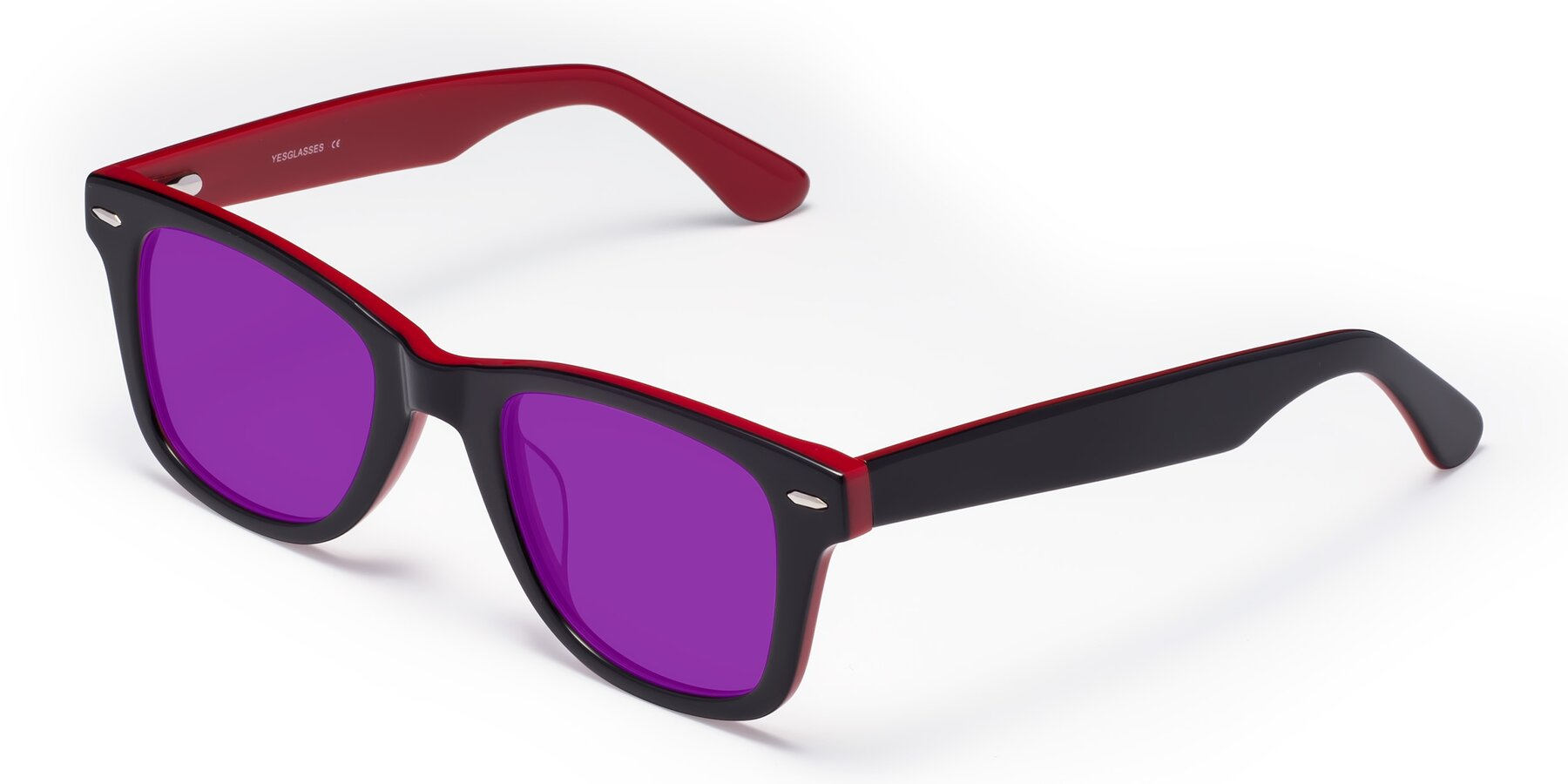 Angle of Rocky in Black-Wine with Purple Tinted Lenses