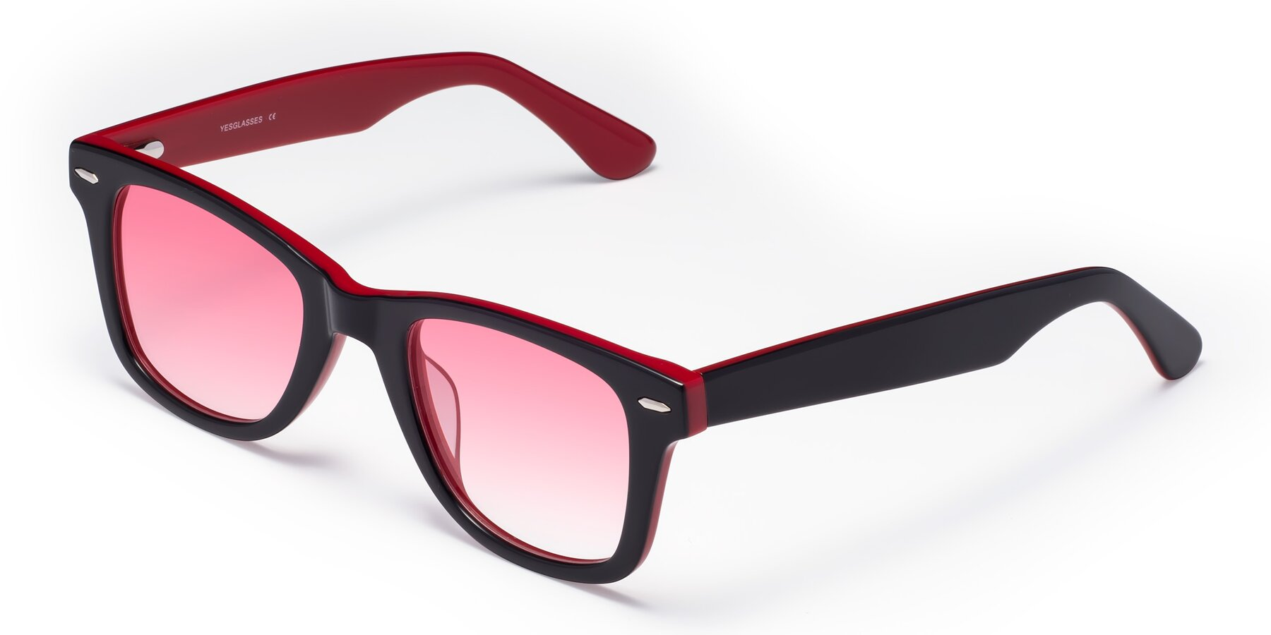 Angle of Rocky in Black-Wine with Pink Gradient Lenses