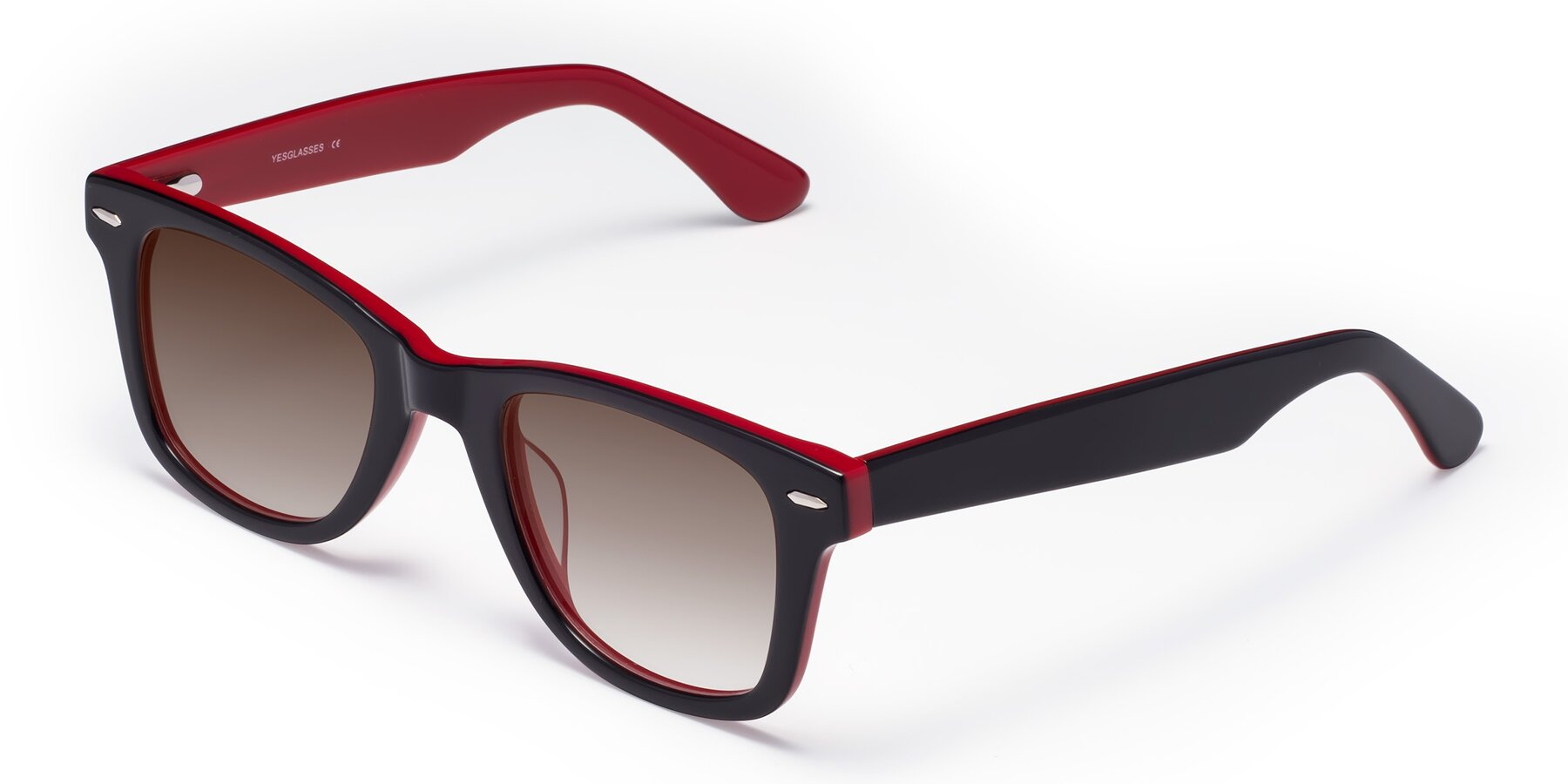 Angle of Rocky in Black-Wine with Brown Gradient Lenses