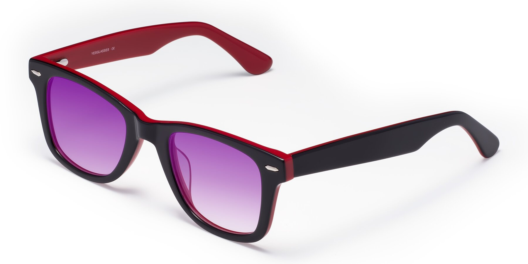 Angle of Rocky in Black-Wine with Purple Gradient Lenses