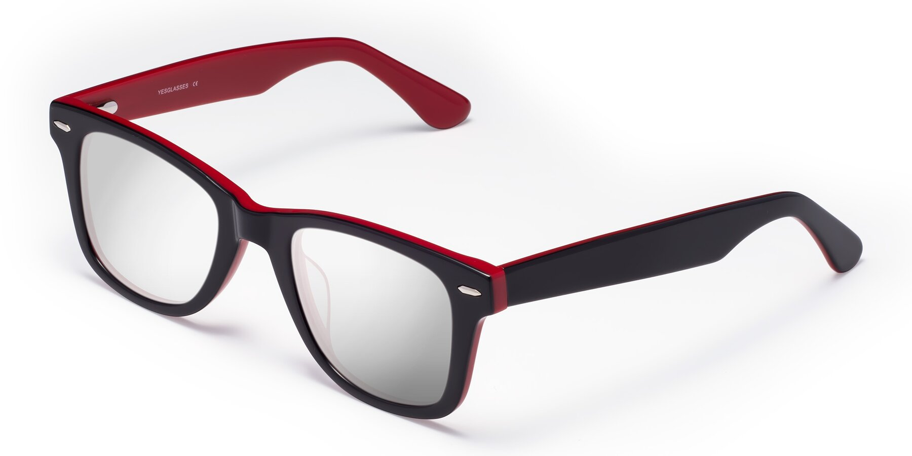 Angle of Rocky in Black-Wine with Silver Mirrored Lenses