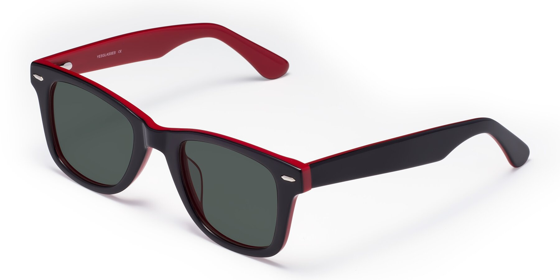 Angle of Rocky in Black-Wine with Gray Polarized Lenses