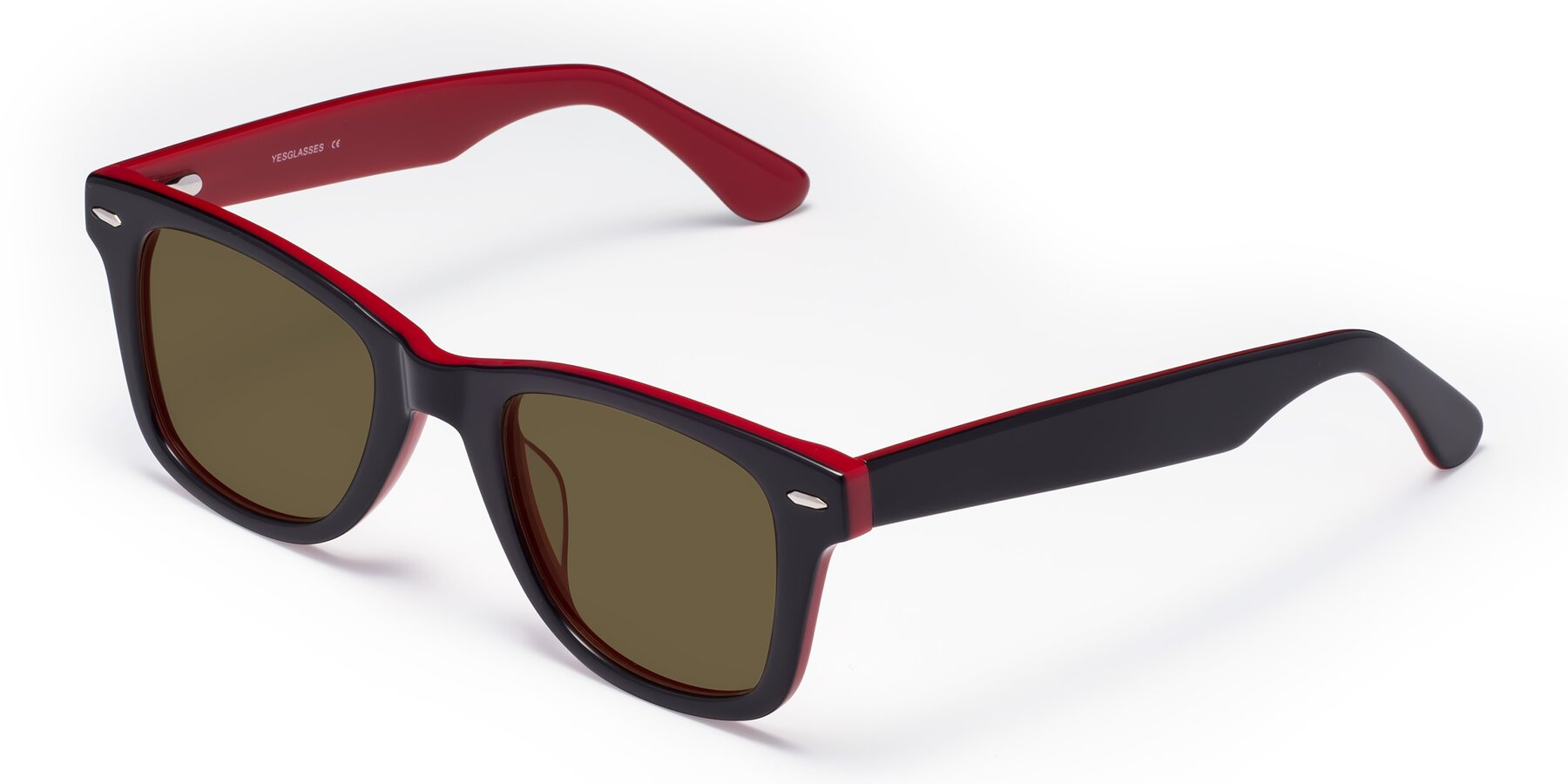 Angle of Rocky in Black-Wine with Brown Polarized Lenses