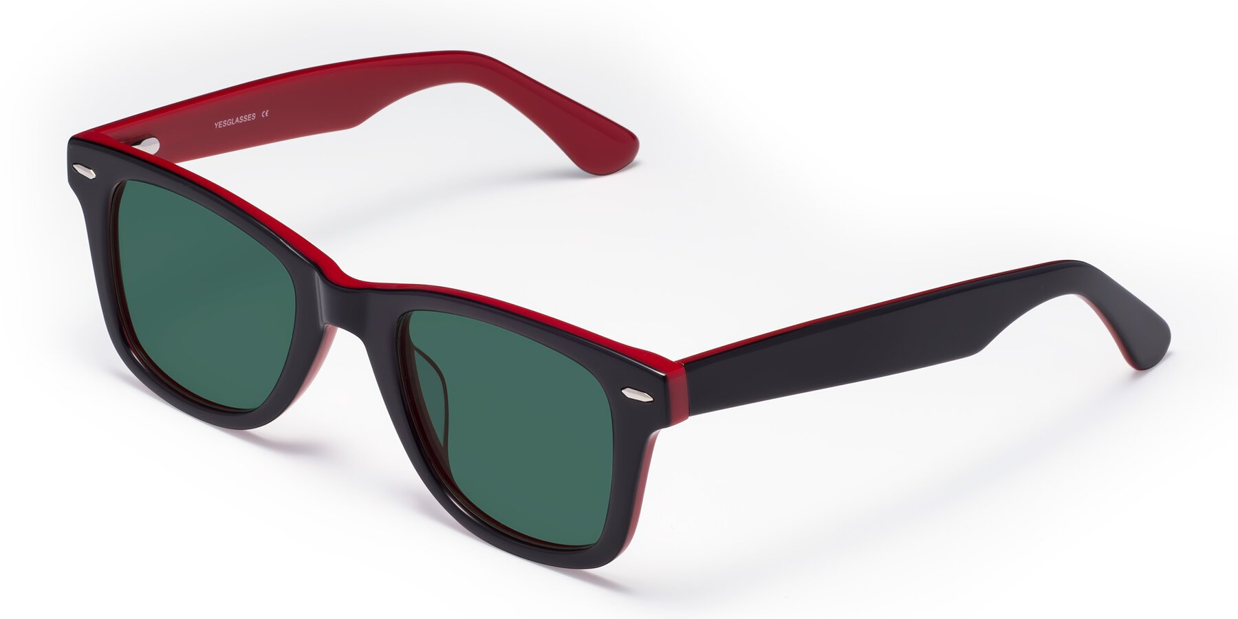 Angle of Rocky in Black-Wine with Green Polarized Lenses