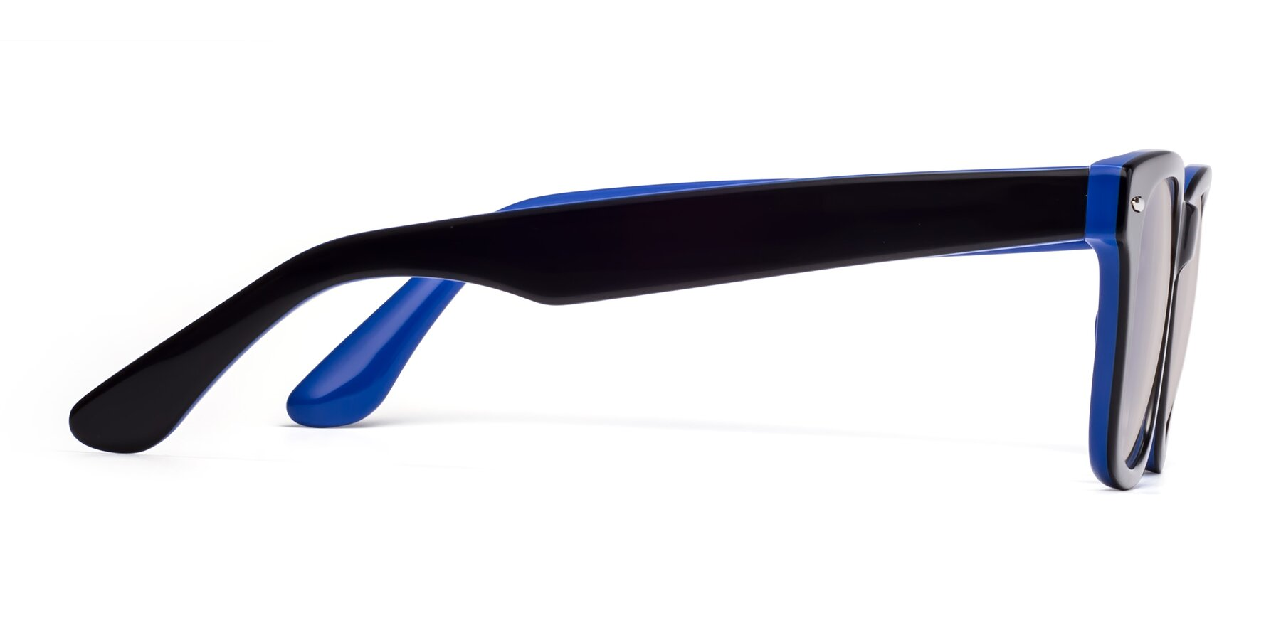 Side of Rocky in Black-Blue with Light Brown Tinted Lenses