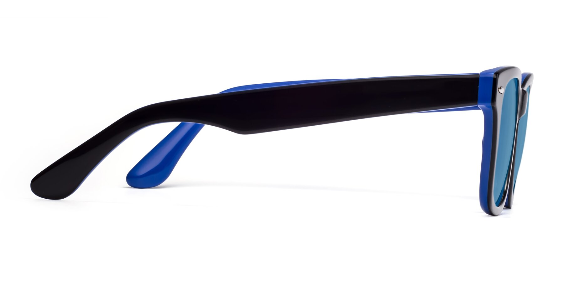 Side of Rocky in Black-Blue with Medium Blue Tinted Lenses
