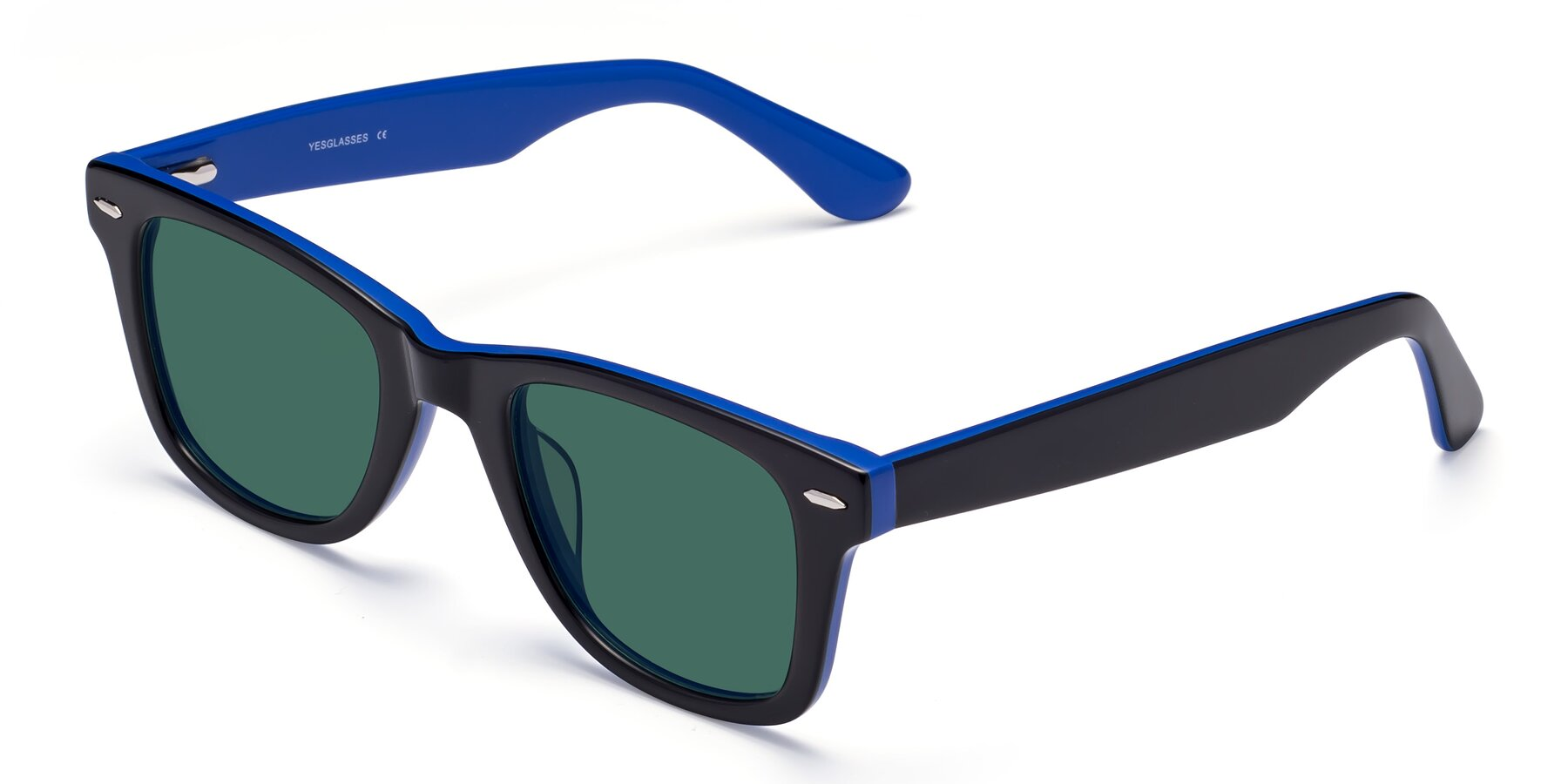 Angle of Rocky in Black-Blue with Green Polarized Lenses