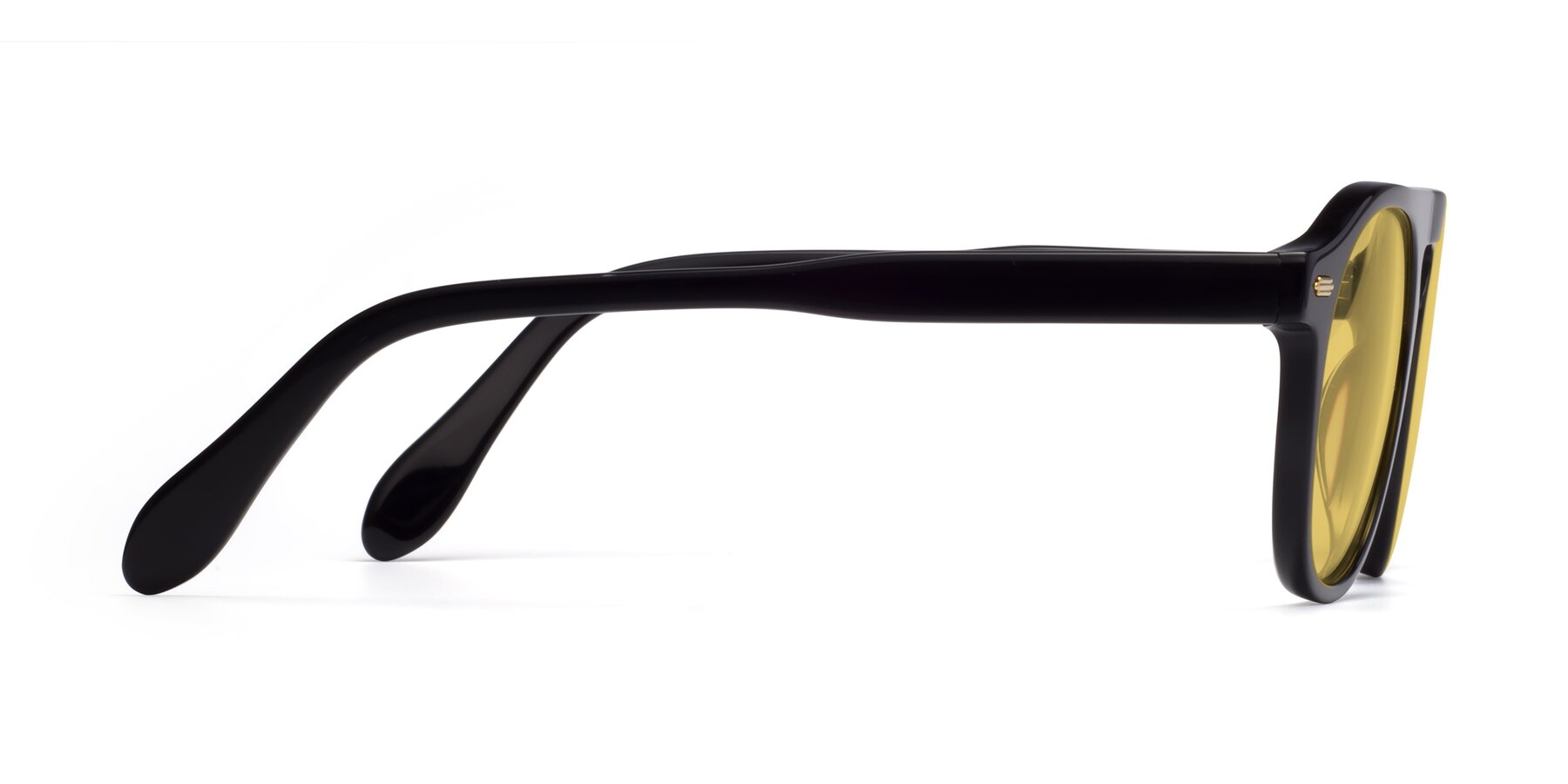 Side of Mufasa in Black with Medium Yellow Tinted Lenses