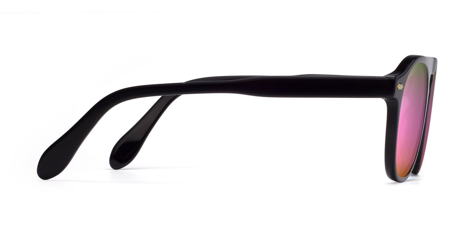 Side of Mufasa in Black with Pink Mirrored Lenses