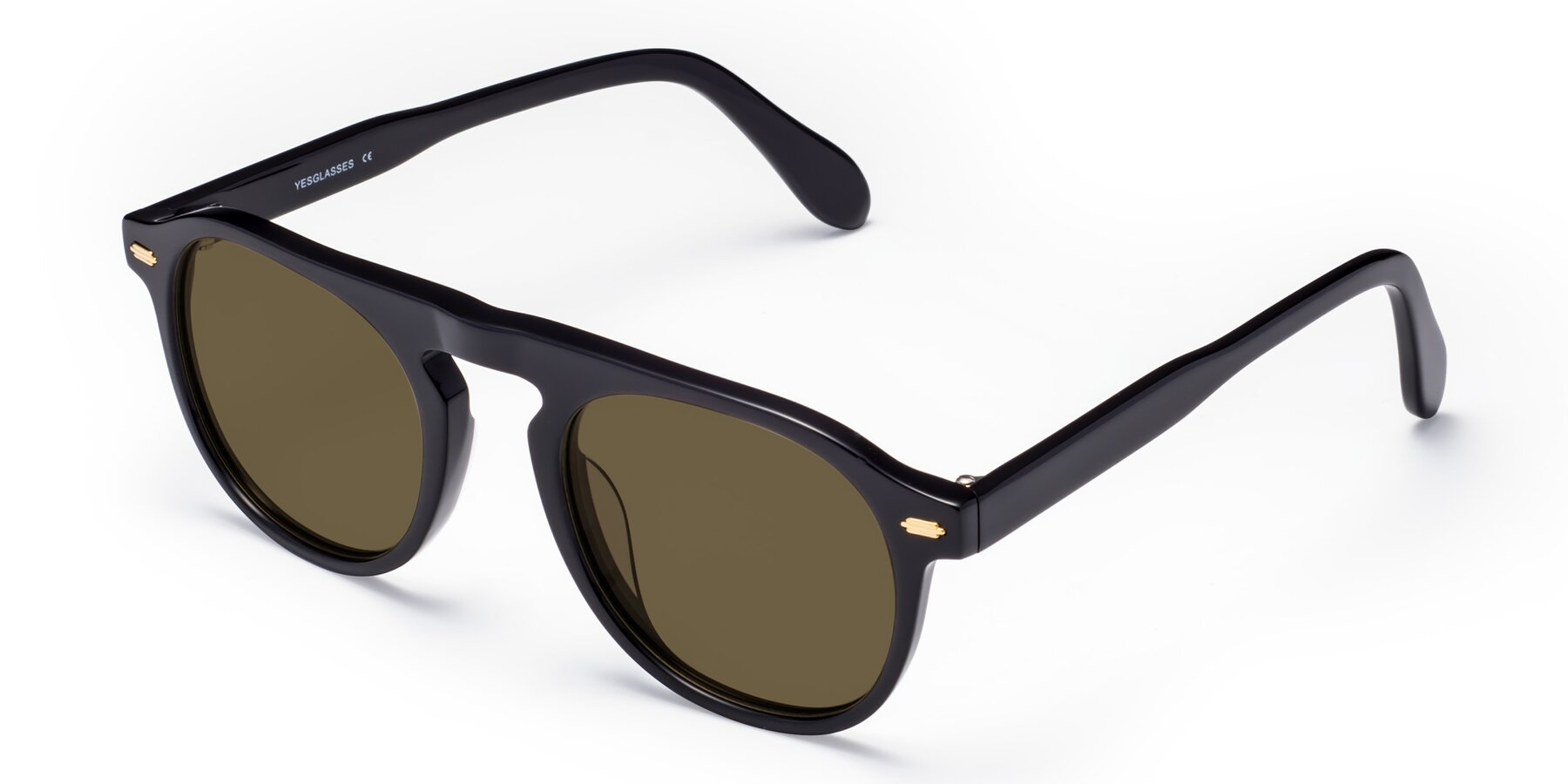 Angle of Mufasa in Black with Brown Polarized Lenses